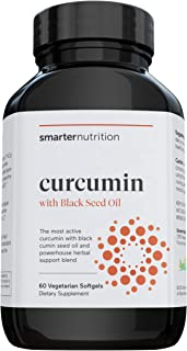 Smarter Nutrition Curcumin - Potency and Absorption in a SoftGel - The Most Active Form of Curcuminoid - 95% Tetra-Hydro C...