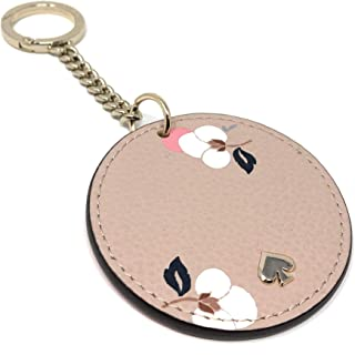 Key Chain Fob Purse Charm Leather Pink Multi, Small