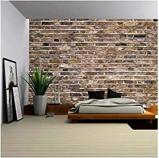 wall26 Fragment of an Old Brick Wall Background - Removable Wall Mural | Self-Adhesive Large Wallpaper - 100x144 inches