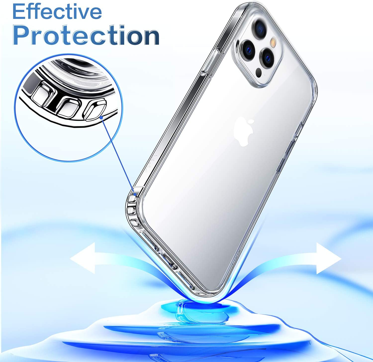 Compatible with iPhone 12 Pro Case Clear Cover for 6.1 Inch 2020 Mkeke Compatible with iPhone 12 Case