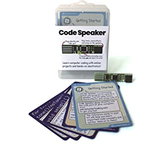 Code Speaker Toy to Introduce Boys & Girls Age 8,9,10,11,12 to Computer Coding and Technology - 12 Online Projects and Songs to Experiment with - No Other Parts Required