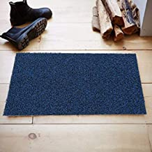 Kuber Industries™ Micro Fiber Door Mat for Offices,Hotel,Restaurtaurant, Home,Shop Set of 1 Pc (60 * 40 cm) Blue