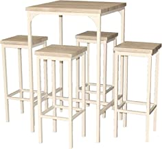 Acciaio e Rattan Sintetico 66 x 50.5 x 74 cm Grigio 5 Unit/à Domus Stile Guttuso Salotto da Giardino composto da tavolo e 2 sedie collocabili a scomparsa sotto il tavolo