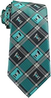 Youth Tie (ties for boys age 8-14) Captain Moroni Dark Blue and Teal Plaid