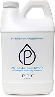 PUREFY Anti-Allergen Spray (68oz), Hypoallergenic. Eliminate Allergens and Odor. Baby Safe. Unscented. No Residue. Asthma & Allergy Safe for babies and pets. Allergen Reducer Spray for Healthier Life!