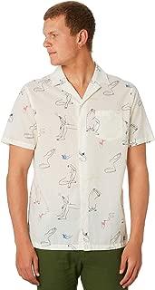 Banks Men's Catherine Rex Mens Ss Shirt Short Sleeve Cotton Polyester White