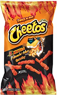 Cheetos Xxtra Flamin' Hot Crunchy Flavor Snacks, 9Oz (10 Pack) By