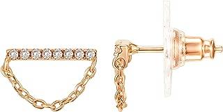 14K Gold Plated Sterling Silver Post Mini Bar Stud Earrings