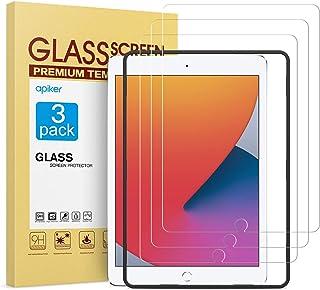 apiker [3 Packs Protector Pantalla Tablet Compatible con iPad 8/7 10.2 2019/2020 A2197 A2198 A2200 (7.ª/ / 8ª generación), Cristal Templado Tablet Premium [9H Dureza] [Alta Definición]