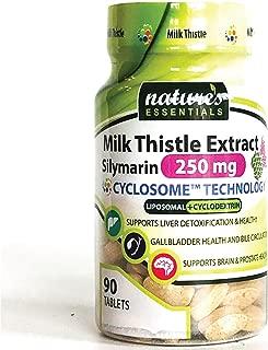 Liposomal Milk Thistle | 250mg per Pill | Full-Spectrum Silymarin| Maximum Absorption Formula | 3 Month Supply | Non-GMO | Gluten-Free | Vegetarian | Lab Certified | USA