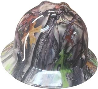 Izzo Graphics Camo MSA V-Guard Full Brim Hard Hat