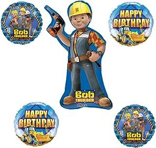 Bob the Builder Happy Birthday Construction 5 Piece Balloon Bouquet by Qualatex