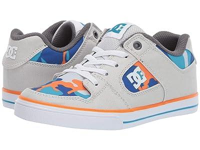 DC Kids Pure Elastic SE Glow (Little Kid/Big Kid) (Blue/Blue/Orange) Boys Shoes