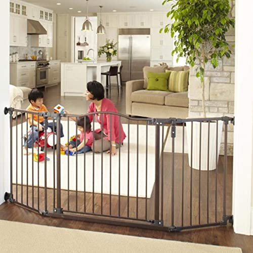 North States 72 Wide Deluxe Dcor Baby Gate Provides Safety In Extra