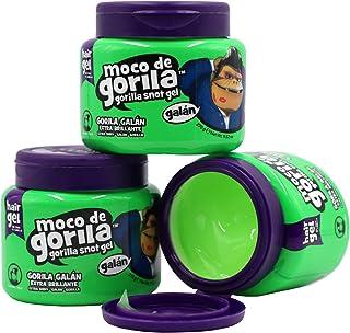 Moco de Gorila Galan Hair Gel Jar, Shinny Hair Styling Gel, 3-Pack of 9.52 Oz Hair Gel Jars, white