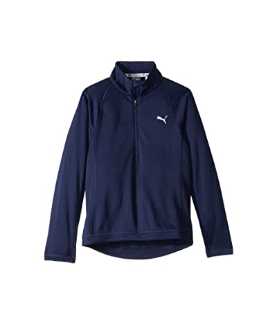 PUMA Golf Kids 1/4 Zip (Little Kids/Big Kids) (Peacoat) Girl