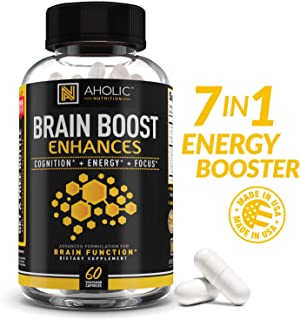 Premium Energy Pills - 100mg Caffeine + 150mg L-Theanine + 300mg Omega 3 + More! All Natural Focused Energy for Mind & Body - Nootropic Brain Booster, Pre Workout, Amino Energy, Non-GMO, Keto Diet