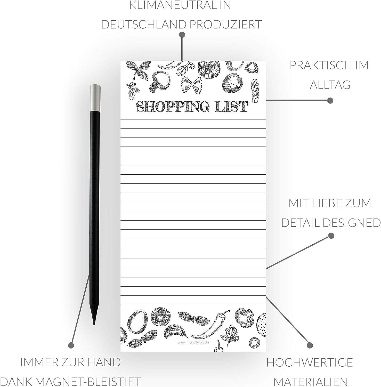 Bloc magn/ético para nevera con 50 notas y bol/ígrafo magn/ético Friendly Fox