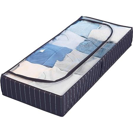 WENKO Housse dessous de lit Comfort, Polyéthylène, 105 x 15 x 45 cm, Bleu