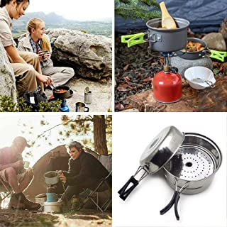 HTTMT - Portable Outdoor Cookware Camping Hiking Picnic Cooking Bowl Pan Pot Set [Item Number: ET-Cook001]