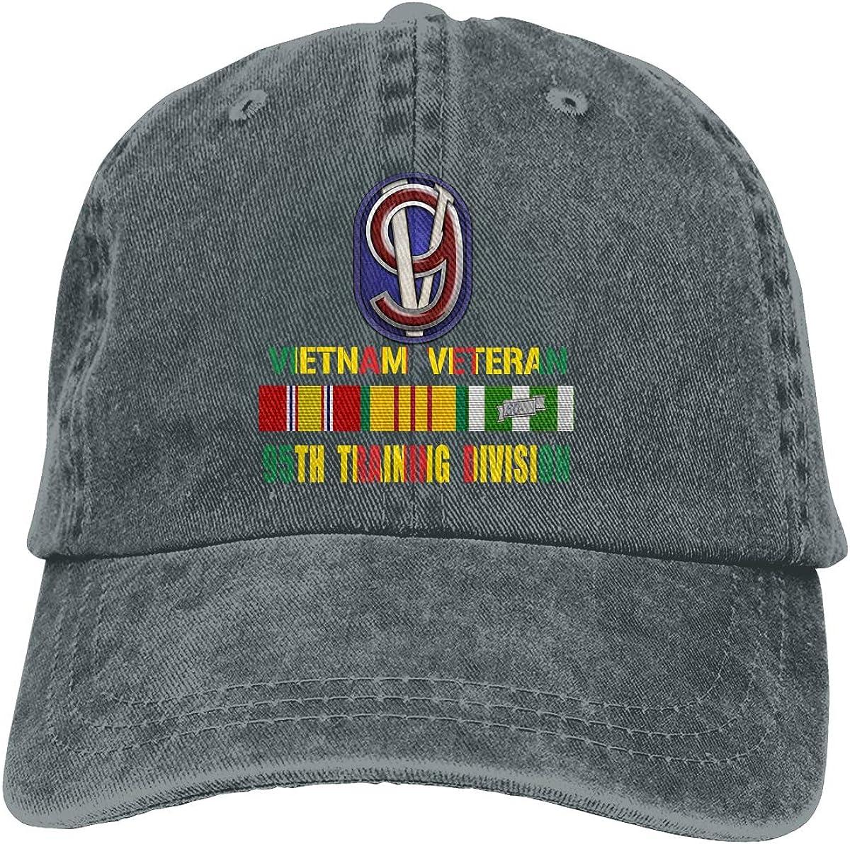 JKJS LDFO Vietnam Veteran 95th Training Division Unisex Baseball Cap Cowboy Hat Dad Hats Trucker Hat