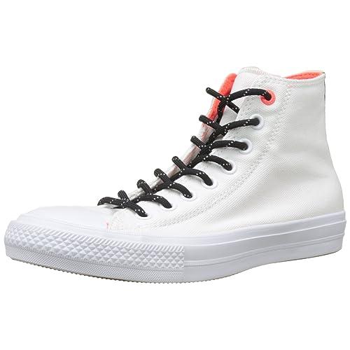 59e8b832b94 Converse Chuck Taylor II Whit Canvas Fashion Sneakers White