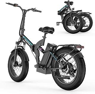 """MARTES Bicicleta eléctrica plegable Fat Tire 20 4"""" con 48V 500W 15Ah Batería de iones de litio, City Mountain Bicycle Boos..."""
