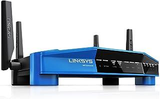 Linksys Wrt3200Acm-Eu Draadloze Gigabit Router, 600 + 2600 Mbps, Zwart/Blauw