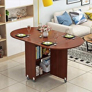 LIYG Table Pliante Moderne Petit Appartement Table Pliante Maison Ronde Ovale Salle à Manger Salon 8 Couleurs (Color : C)