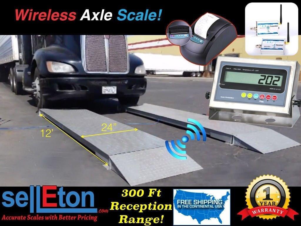 Selleton 12' X Sale item 2' Wireless Truck Axle Scale 000 Capacity 60 of Weekly update L