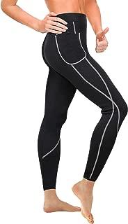 Heflashor Damen Shapewear Legging Sporthose Fitnesshose Hohe Taille Sauna Hose Schwitzeffekt Abnehmen Stretch-Hose