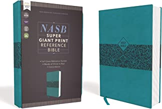 NASB Reference Bible Red Letter Edition [Teal, Super Giant Print]