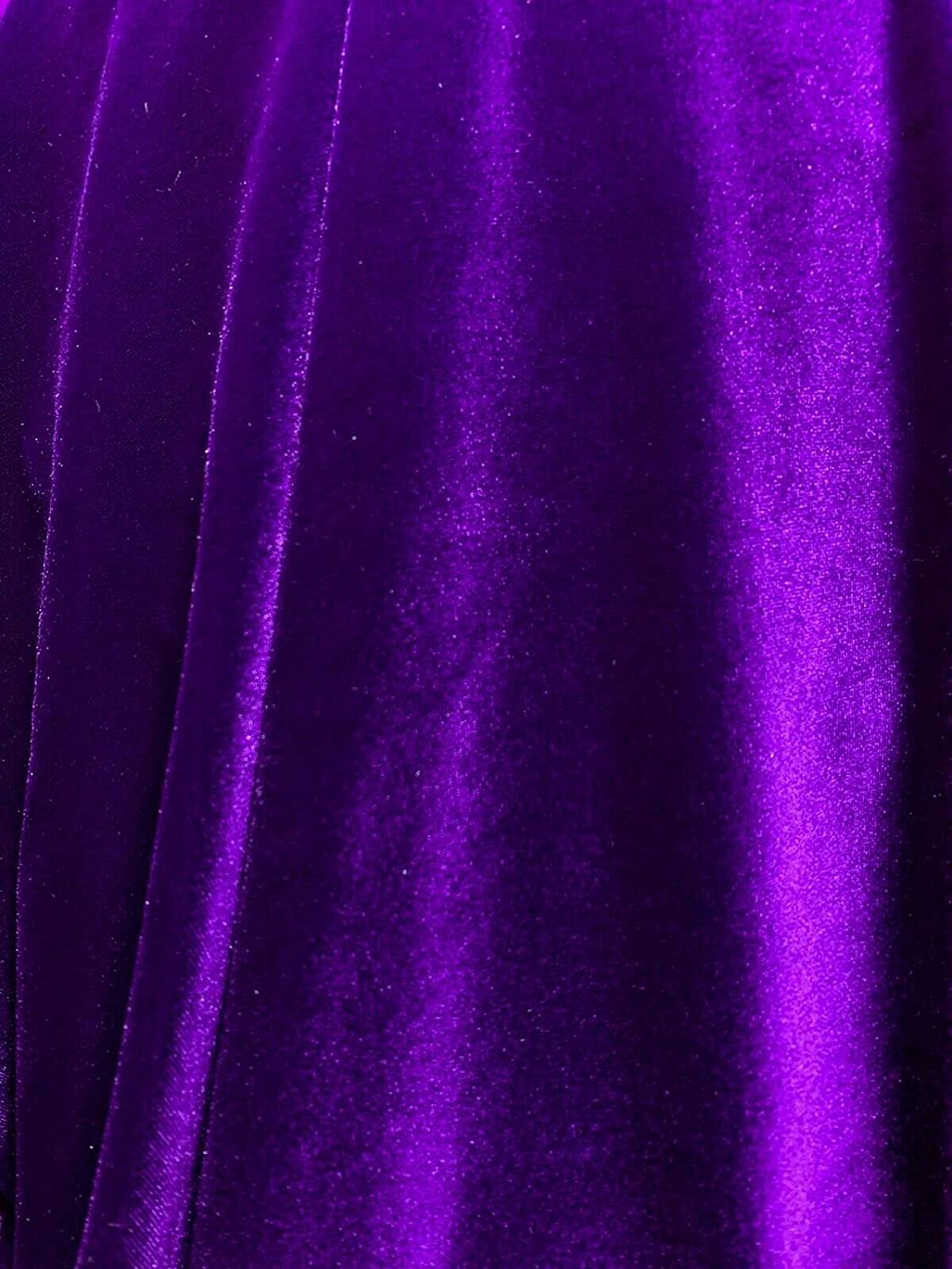 Fabric Max 59% OFF by The Yard - Purple 2021 new Stretch Polyester 60 Velvet