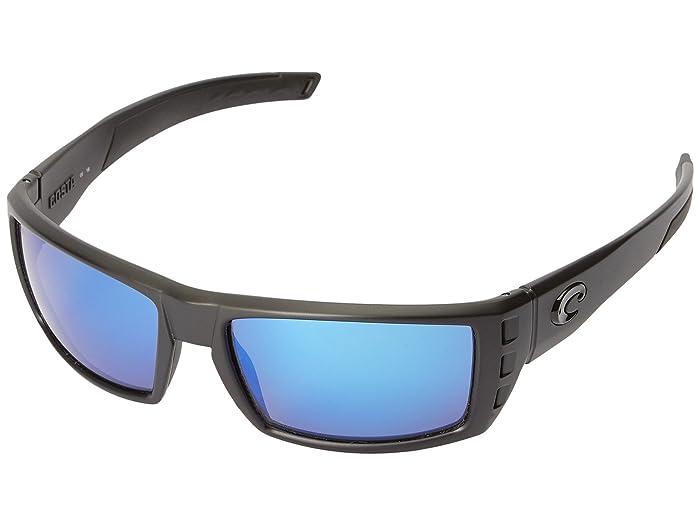 Costa  Rafael (Blackout Frame/Blue Mirror Glass W580) Fashion Sunglasses