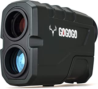 Gogogo Sport 1200 Yards Laser Range Finder, Hunting with Flagpole Lock - Ranging - Speed and Scan 6X Rangefinders with USB...