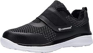 Zapatillas de Seguridad Hombre,S1 SRC Punta de Acero Anti-Deslizante Ultra Liviano Transpirable Reflectivo