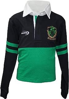 Lansdowne Emerald and Navy Ireland Shamrock Ireland Long Sleeve Rugby Shirt