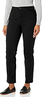 GLORIA VANDERBILT womens Petite Amanda Polished Trouser Pant Pants