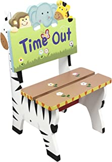 Fantasy Fields - Sunny Safari Animals Thematic Kids Time Out Chair | Imagination Inspiring Hand Painted Details   Non-Toxic, Lead Free Water-based Paint