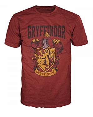 Harry Potter- Gryffindor Shield T-Shirt Size M,red