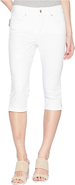 Petite Skinny Capris in Optic White