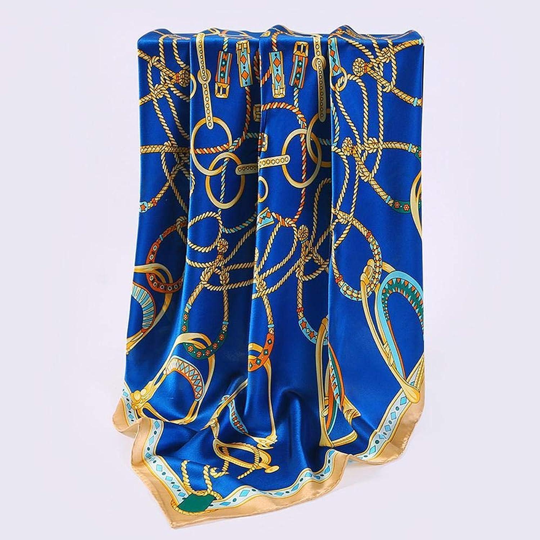 Weiwei Women's Silk Scarves 100% Silk Scarf Summer Autumn Sunscreen Silk Scarf Small Shawl 86cm86cm