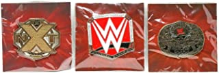 Loot Crate Set of 3 WWE UK United Kingdom United States and World Heavyweight Championship Pins Slam Crate Official