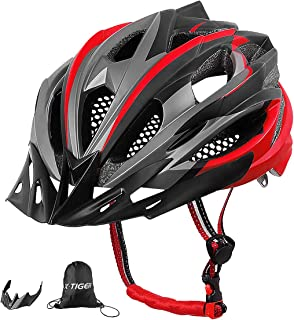X-TIGER Bicicleta Casco Adulto Unisexo con Certificado CE,Visera y Forro Desmontable Especializado para Ciclismo de Montaña