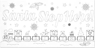 Premier Stationery Santa Stop Here Canvas, White, 150 x 300mm
