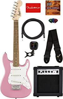 squier by fender mini strat electric guitar