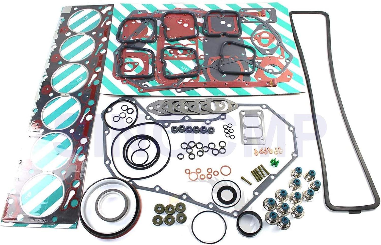 6B 6BT 6BTA 5.9L 12v Full Gasket Excavator Popular brand in the world Max 74% OFF Parts f Set SINOCMP -