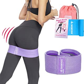 Shinyee Booty Hip Band High Resistance Bands for Legs and Butt Workout Loop Exercise Band Women,Gym Fitness Circle Non Slip Fabric Heavy Duty Bootie Training Glute Band