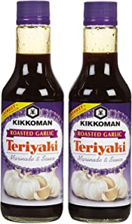 Kikkoman Roasted Garlic Teriyaki Marinade & Sauce, 10 oz, 2 pk