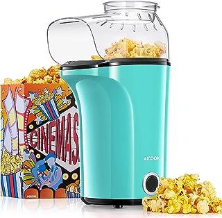 AICOOK Machine à Pop Corn, 1200W Retro Machine à Popcorn avec Air Chaud, Sans Gras Huile, Facile á L'utilisation[Classe én...
